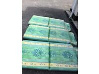 Cushions for garden settee