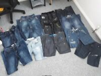 12 pairs of jeans 28 waist 32 leg good condition
