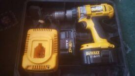 Dewalt DC984KA 14.4 Cordless Hammer Drill & 2 Batteries