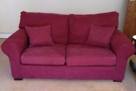 Two Multi York Sofas and Chair