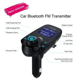 Bluetooth in-car transmitter storage unit and charger USB sdcard(can be linked with your mobile)