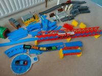 Thomas The Tank Engine rail & road set with stations,tracks,bridges,tunnels and engines with trucks!