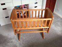 Troll Nicole antique pine glider crib. Excellent condition