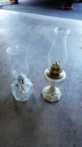 Kerosene Hurricane lamps--pair