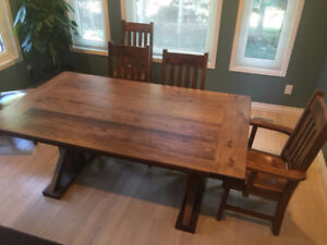 LARGE  RUSTIC  HARVEST  TABLES