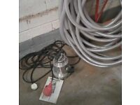 Nocchi Omnia 80-5 Submersible Stainless Steel 80 ltr/min, 5m Height Automatic Water Pump & FREE HOSE