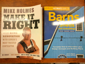 Building Books Barns Sheds and Mike Holmes Reno Contract plans
