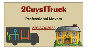 2guys1truck- Movers: Furniture, piano, safe, pool table junk etc