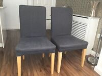 2x ikea dining chairs