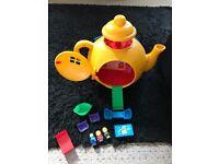 Bluebird big yellow teapot with some original accessories