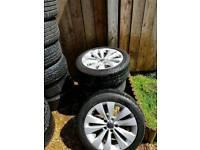 2011 passat cc alloy wheels 17inch will fit golf caddy leon etc