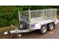 Trailer twin axle 8 x 4 with mesh sides sheep builder general purpose