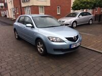 Automatic Mazda 3 in sky blue 56 reg with 12 months mot , drives well ,good conditionpx welcome
