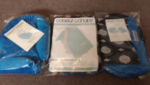 Brand new Whole Caboodle carseat canopy set $90 takes