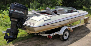 Glastron Carlson CVX 16 with 90hp Mercury and trailer