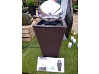 Water Feature (boxed) Cork effect with stainless steel sphere, and led lights. Bargain