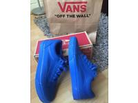 Vans old Skool nautical blue size 8 brand new never worn unwanted gift