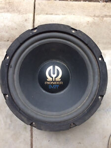 """12"""" Pioneer 450w Subwoofer w/ shallow box"""