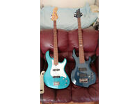 LTD F255 five string and Fernandes Jazz Bass plus cash for trade.