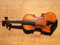 3/4 size Late 19th Century German Violin