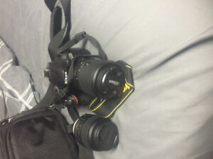 D5200 camera and kit - 800 OBO