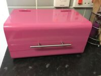Pink retro bread bin