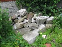 Garden rockery, cobble, and other landscaping stones
