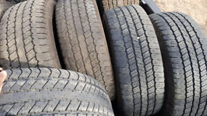 Used set of LT265/60R20 and LT235/80R17