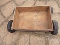 Heavy duty purpose made reinforced wooden storage drawer on wheels