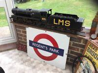 Railway sign London Underground original enamel by Garnier