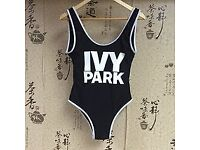 New Beyonce Ivy Park Topshop Leotard Bathing Suit Swimsuit Black White Bodysuit Zara Chicago Bulls
