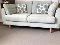 Contemporary sofa chair and footstool