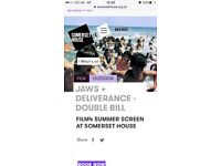 JAWS + DELIVERANCE - DOUBLE BILL FILM4 SUMMER SCREEN AT SOMERSET HOUSE