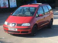 2001 SEAT ALHAMBRA LOW MILES 80K 2.0 PETROL MOT AND TAXED DRIVES GOOD GALAXY SHARAN
