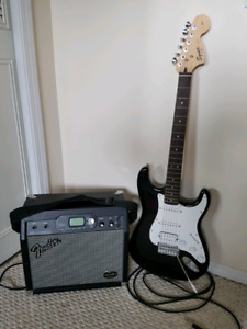 Fender Electric Guitar and Amp 50w