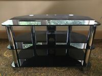 Universal Smoked Glass TV Stand