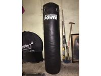 Punch Power Punching Bag For Sale Brand New Never Been Used Comes With Everything including Bracket