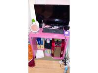 Pink Ikea computer desk