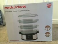 Morphy Richards Stainless Steel Steamer- New, unused, in original packaging and box