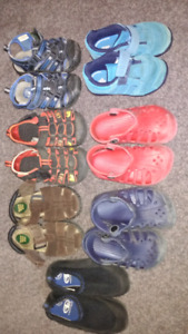Toddler size 7 shoes sandals $5 each $25 takes LOT