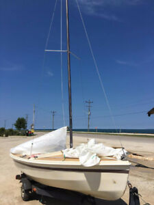 CL16 sailboat with trailer