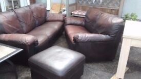 Leather sofas, Price reduced as needs to be sold