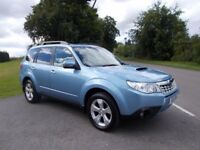 2011 11 SUBARU FORRESTER 2.0 D XS (NAV) 4X4 METALLIC BLUE WITH FULL BLACK LEATHER