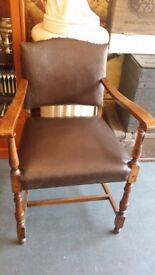 A Vintage Old Victorian Antique Chair
