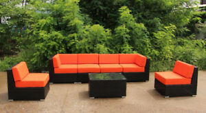 (っ◔◡◔)っ ♥ HUGE SALE ♥ 7 PCS OUTDOOR FURNITURE SET PATIO WICKER