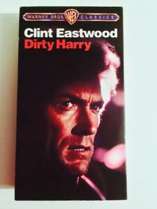 DIRTY HARRY VHS CASSETTE HOME VIDEO CLINT EASTWOOD