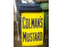 * Wanted old advertising metal sign antique vintage shop enamel