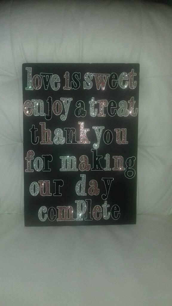 Free wedding day candy cart sign