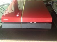 Red ps4 PlayStation 4 limited edition metal gear solid edition MINT condition!!