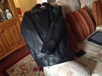 Gents Leather Jacket from Next size Large as New in Black